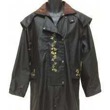 Aussie Embroidered Full-length Riding Coat