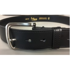 Black Leather Belt with removable buckle