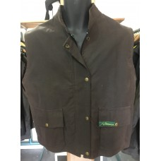 Aussie 2 Pocket Vest XSmall Brown oilskin