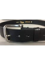 Black Leather Belt with removeable buckle