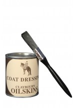 Oilskin Coat Dressing & Brush