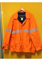 Work Wear Jacket, XLARGE, hi-viz, water & grease repellent, hi-viz, unisex
